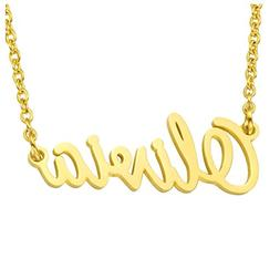 PiercingJ Stainless Steel Personalized Name Necklace Pendant