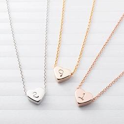 SAME DAY SHIPPING GIFT TIL 2PM CDT A Tiny Heart Initial Neck