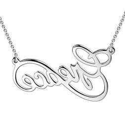 SOUFEEL 925 Sterling Silver Necklaces Personalized Name Neck