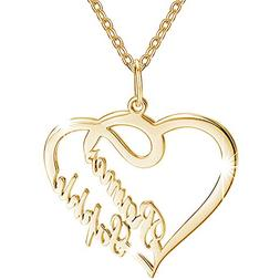 SOUFEEL Custom Name Necklace 14k Gold Plated Copper Heart Ne