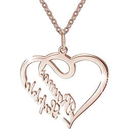 8219dadd9e9f6 SOUFEEL Custom Name Necklace Rose Gold P...