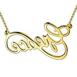 SOUFEEL Custom Name Necklaces Infinity Love Necklace Gold Pl