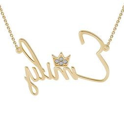 SOUFEEL Customized Necklace Custom Name Necklace Gold Plated
