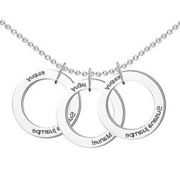 SOUFEEL Personalized Engraved Hang Tag Necklace 925 Sterling