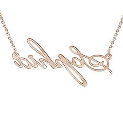 SOUFEEL Rose Gold Plated Necklace Custom Name Necklace Custo