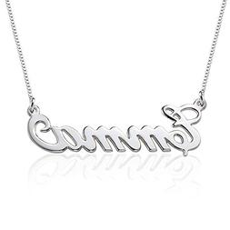 Small Name Necklace - 925 Sterling Silver Xs Name Pendant -