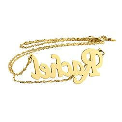 Soul Jewelry Personalized Name Necklace 14k Gold Dainty Pend