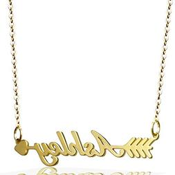 ZSE Jewelry Customized Name Necklace Personalized Initial Ne