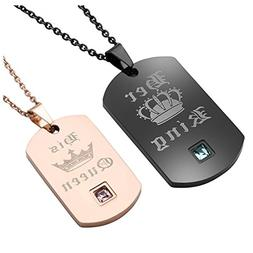 Zysta Free Engraving - Personalized Custom His & Hers Matchi