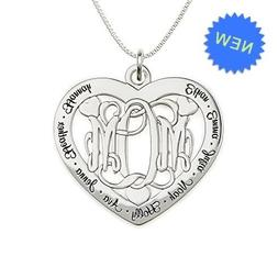 AJ's Collection Big Lovie Dovie Personalized Heart Name Neck