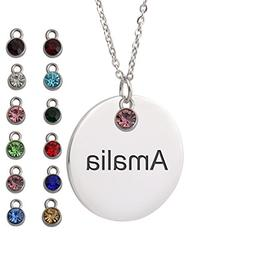 HUAN XUN Amalia Name Michael Necklace Name Round Initial Nec