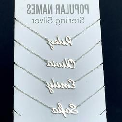 ANY Name Plate Necklace Personalized Custom Sterling Silver