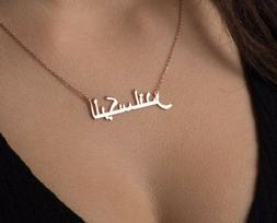 Arabic Name Necklace For Women Personalized Men Nameplate Ch