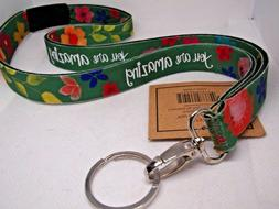 KATIE DOUCETTE ART YOU ARE AMAZING  ID Badge Name Tag Holder