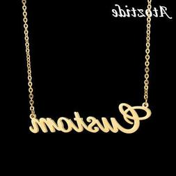 atoztide customized fashion stainless steel name necklace