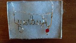 AUDREY Wire Name necklace, Personalized name, or ANY name on