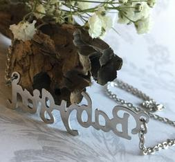 Babygirl Baby Girl Choker Necklace Silver Pendant Name Word