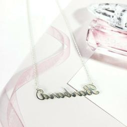 Barbara Personalized Script Name Necklace 925 Sterling Silve