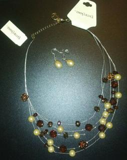 Erica Lyons Beautiful Necklace Plus Non Name Brand Earrings