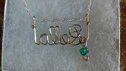 BELLA Wire Name necklace, Personalized name, or ANY name on