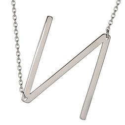 HUAN XUN Big Initial N Necklaces Stainless Steel Jewelrys Na