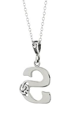 celtic initial letter s pendant necklace 925