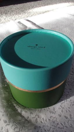 Kate Spade Center Logo Gift Box, Round Blue/Green