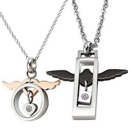 COCO Park Couple Love Promise Jewelry Stainless Steel Angel