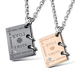 COCO Park Couple Promise Jewelry Stainless Steel Love Story
