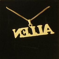 Custom Chain Name Necklace Pendant Personalized Font Jewelry