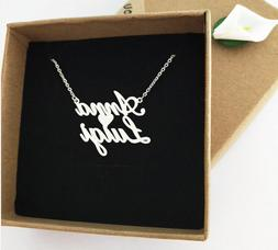 Custom Double Name Couple Lover Heart Necklace Personalized