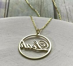 Custom Name Round Necklace Jewelry Women Men Personalized Fo