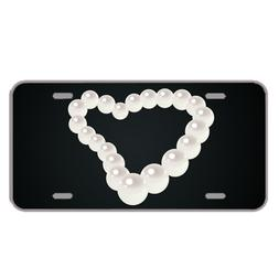 Custom Novelty License Plate With Pearl Necklace Design