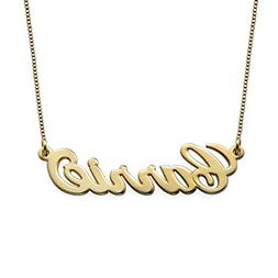 Small Name Necklace - Gold Plated Sterling Silver custom Nam