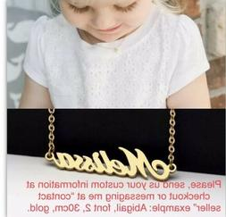 Custom Personalized Name Necklace Kids Baby Real Stainless S