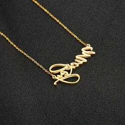 Custom Personalized DIY Name Initial Charm Necklace Pendant