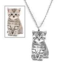 Custom Portrait Your Pet Photo <font><b>Necklace</b></font>