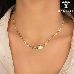 Custom Stainless Steel Cuban Chain Name Necklace Personality