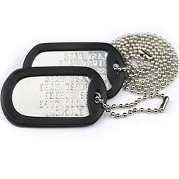 Custom US Military Dog Tags - Includes Two Personalized ID T