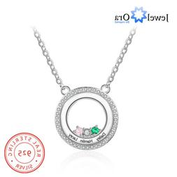 Custom Women Necklaces Sterling Silver Engraving Name Births