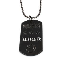 DANIAL - Personalised Engraved Mens Dog Tag Name Necklace -