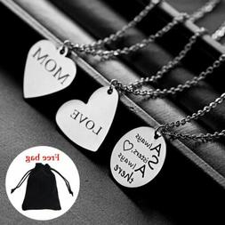 DIY Necklace Personalized Custom Stainless Steel Engraved Na