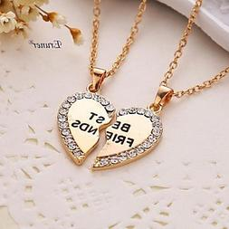 Eruner® 2015 new style broken heart 2 parts pendant necklac