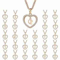 Fashion Love Heart Initial Letter A-Z Pendant Necklace Name