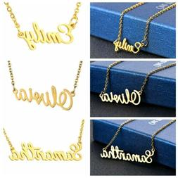Fashion Women Stainless Steel Lettering Name Pendant Chain N