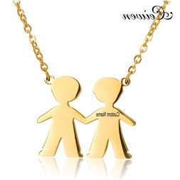 Free Engraving <font><b>Name</b></font> Boy Girl Pendant <fo