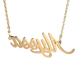 HUAN XUN Gold Color Plated Little Name Necklace, Alyssa