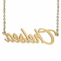 Gold Color Plated Name Necklace Pendant Chain,Chelsea Cute G