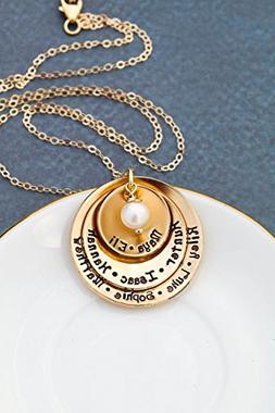 Gold Mom Necklace - ROI - Grandma Jewelry Mother's Day Gift