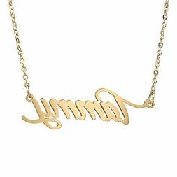 AOLO Gold Name Necklace Tammy Pendant Chain Necklace Pendant